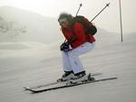 Free Stock Photo: A woman snow skiing.