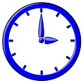 Free Stock Photo: Illustration of a blue clock.