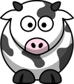 Free Stock Photo: Illustration of a cartoon cow.