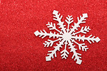 Free Stock Photo: A snowflake background.