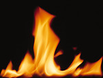 Free Stock Photo: Close-up of a burning flame.
