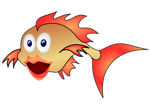 Free Stock Photo: Illustration of a cartoon goldfish.