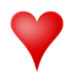 Free Stock Photo: Illustration of a red heart.