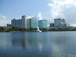 Free Stock Photo: Orlando Florida cityscape viewed from the water.