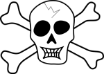 Free Stock Photo: Illustration of a skull and crossbones.