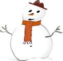 Free Stock Photo: Illustration of a snowman.