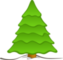 Free Stock Photo: Illustration of a plain Christmas tree.