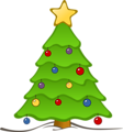 Free Stock Photo: Illustration of a decorated Christmas tree.
