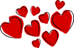 Free Stock Photo: Illustration of red hearts.