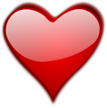 Free Stock Photo: Illustration of a red heart isolated on a transparent background.