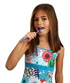Free Stock Photo: A pretty young girl brushing her teeth.