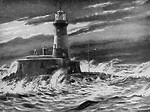 Free Stock Photo: Vintage illustration of a lighthouse.