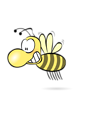 Free Stock Photo: Illustration of a cartoon bee.