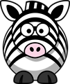 Free Stock Photo: Illustration of a cartoon zebra.