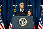 Free Stock Photo: President Barack Obama delivers an address at the National Defense University in Washington, D.C., March 28, 2011, to update Americans on the situation in Libya.