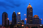 Free Stock Photo: Atlanta skyline at night.