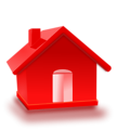 Free Stock Photo: Illustration of a red 3D house with a transparent background.