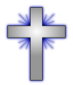 Free Stock Photo: Illustration of a cross with a transparent background.