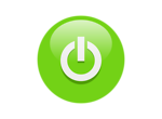 Free Stock Photo: Illustration of a green power button icon with a transparent background.