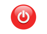 Free Stock Photo: Illustration of a red power button icon with a transparent background.