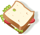 Free Stock Photo: Illustration of a sandwich with a transparent background.