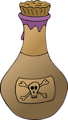 Free Stock Photo: Illustration of a bottle of poison with a transparent background.