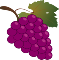Free Stock Photo: Illustration of a bunch of grapes with a transparent background.