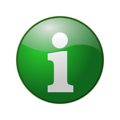 Free Stock Photo: Illustration of a green information button with a transparent background.
