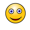Free Stock Photo: Illustration of a yellow smiley face with a transparent background.