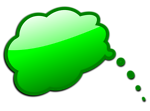 Free Stock Photo: Illustration of a green cartoon speech bubble with a transparent background.