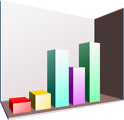 Free Stock Photo: Illustration of a 3D bar chart with a transparent background.