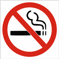 Free Stock Photo: Illustration of a no smoking symbol with a transparent background.
