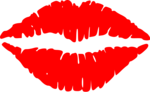 Free Stock Photo: Illustration of red lips with a transparent background.