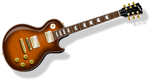 Free Stock Photo: Illustration of an electric guitar with a transparent background.