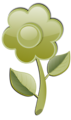 Free Stock Photo: Illustration of a green flower with a transparent background.