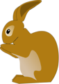 Free Stock Photo: Illustration of a brown rabbit with a transparent background.