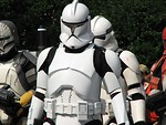 Free Stock Photo: Three types of Clone Trooper costumes in the 2008 Dragoncon parade in Atlanta, Georgia.