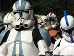 Free Stock Photo: Closeup of several Clone Trooper costumes in the 2008 Dragoncon parade in Atlanta, Georgia.