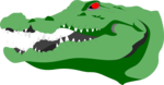 Free Stock Photo: Illustration of a crocodile head.