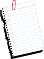Free Stock Photo: Illustration of a blank notebook paper.