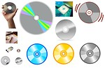 Free Stock Photo: Various compact discs.