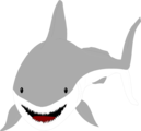 Free Stock Photo: Illustration of a great white shark.