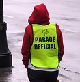 Free Stock Photo: A parade official at the 2009 Atlanta Saint Patricks Day Parade.