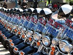 Free Stock Photo: Police motorcycles.
