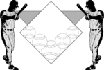 Free Stock Photo: Illustration of a baseball background.