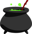 Free Stock Photo: Illustration of a cauldron.