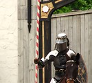 Free Stock Photo: A knight on a horse in the jousting arena at the 2009 Georgia Renassance Festival.