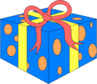 Free Stock Photo: Illustration of a blue wrapped present.