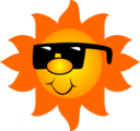 Free Stock Photo: Illustration of the sun wearing sunglasses.