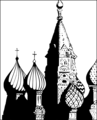 Free Stock Photo: Illustration of St Basils Cathedral in Moscow, Russia.